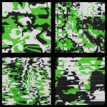 Jet Boat Lime Green Camo