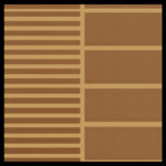 Brown on Camel Cut Groove and Wide Groove