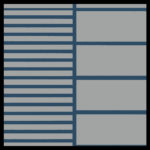Gray on Deep Blue Cut Groove and Wide Groove