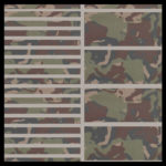 Swamp Camo on Gray Cut Groove and Wide Groove